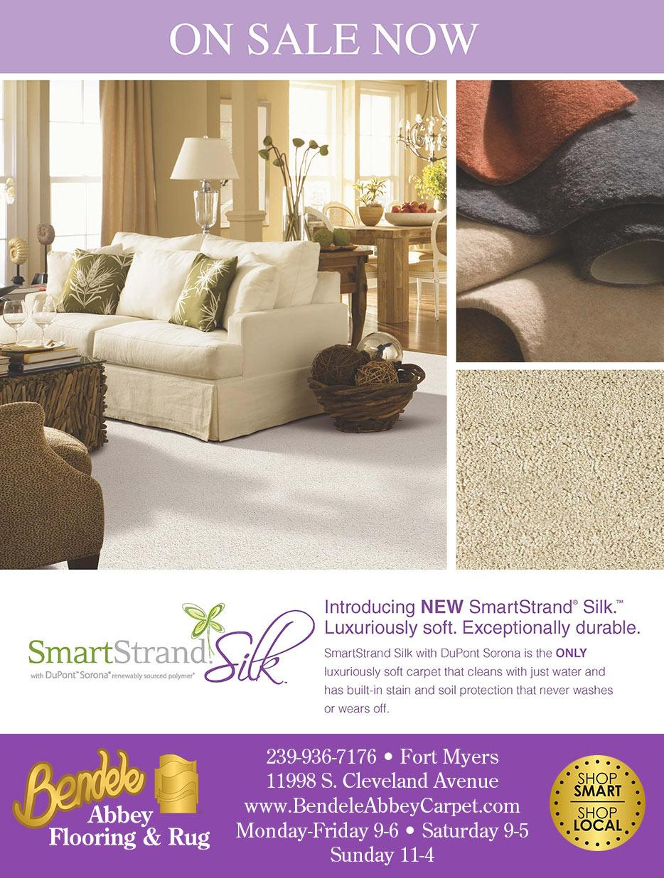 On sale now at Bendele Abbey Flooring & Rug - SmartStrand Silk - Luxuriously soft. Exceptionally durable.