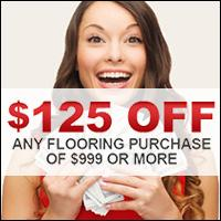 Receive $125 off any flooring purchase of $999 or more.
