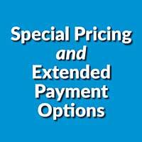Special Pricing and Extended Payment Options