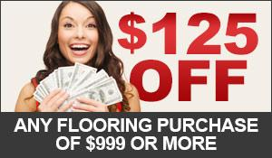 Receive $125 off any flooring purchase of $999 or more. Excludes sale and clearance items. Not valid on prior purchases. Only at Bendele Abbey Carpet & Rug in Fort Myers, Florida!