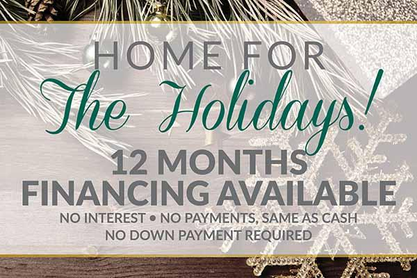 Home for the Holidays Flooring Sale 12 months Financing Available