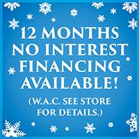 12 months no interest financing avalable at Bendele Abbey Flooring & Rug